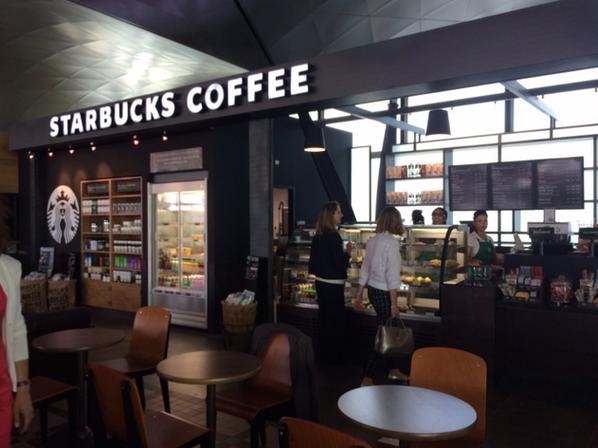 Le nouveau Starbucks de l'aéroport, ouvert depuis le 24 juin. Photo ©Aéroports de Lyon