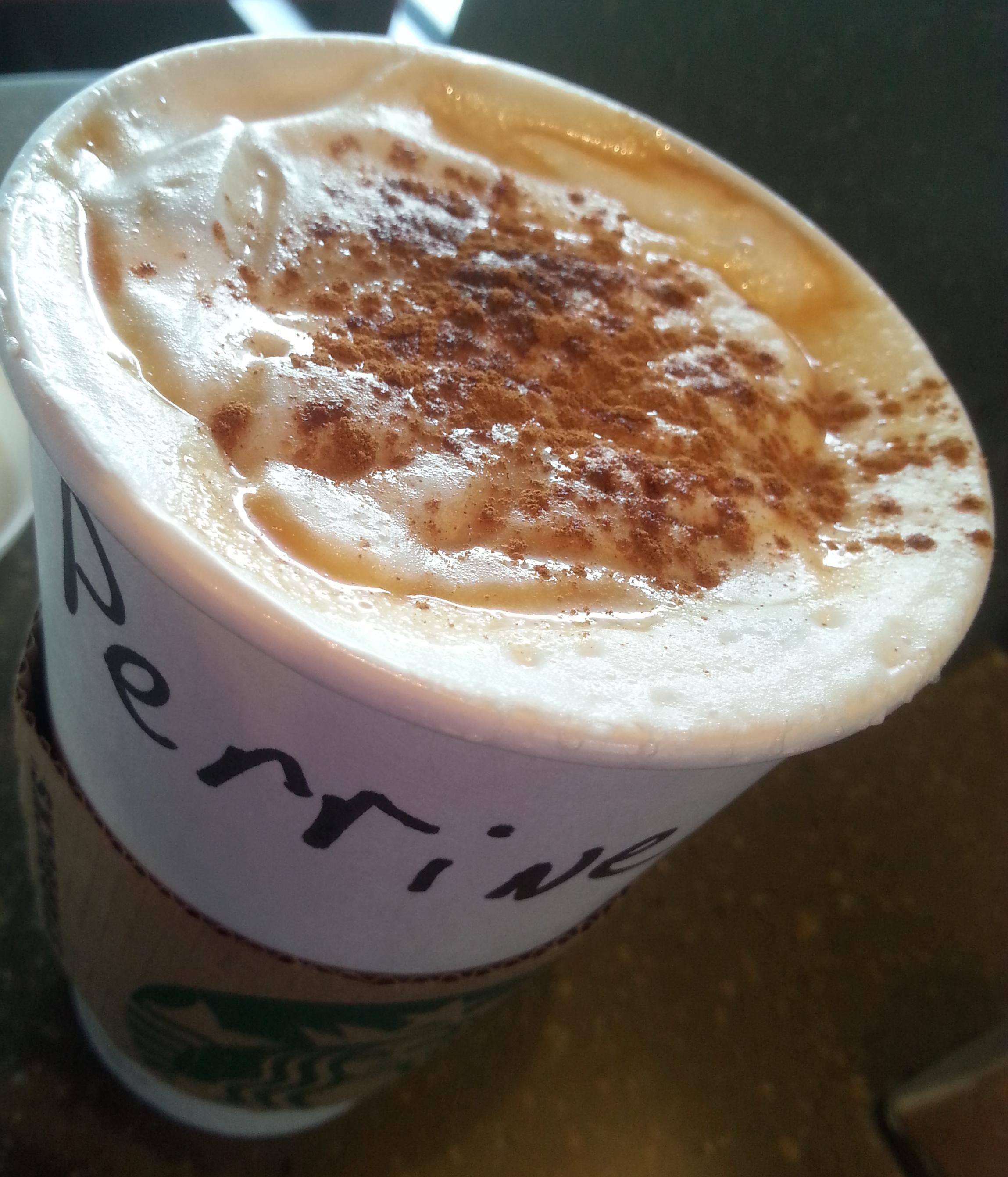 Latte caramel Starbucks