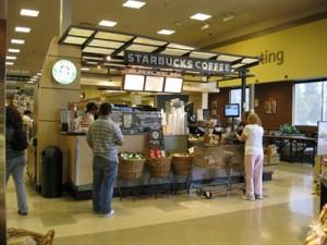 Un corner Starbucks dans un supermarché.... chez Safeway. Source Waymarking.com