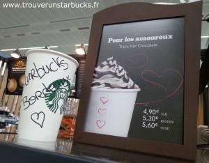 Starbucks triple hot chocolate