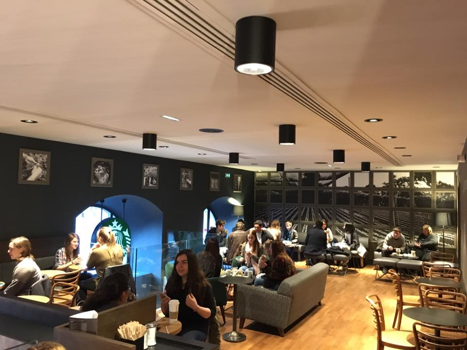 Ouverture Starbucks salon etage